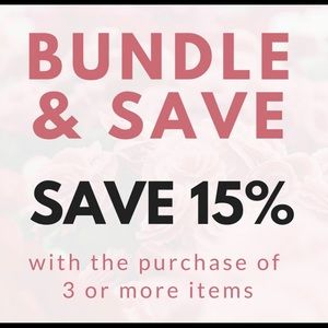 Bundle 3 or more items from my closet and save!